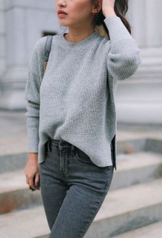 40cf40926c Everlane Cashmere Sweater + Ankle Jeans (Extra Petite)
