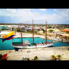 """""""Gloria"""" visits Aruba - One of the worlds biggest historic Tall ships still in service - Colombia's Navy"""
