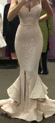 Sparkly Prom Dress,Mermaid Prom Dress,Sequins Prom Dress,Fashion Prom Dress, Cheap Party Dress, 2017 Evening Dress