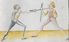 Lecküchner, Hans: Kunst des Messerfechtens Nordbayern, 1482 Cgm 582 Folio 89
