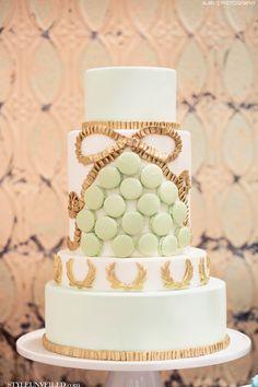 Macaron Wedding Cake by The Sweet Side / Alante Photography / Seattle Wedding Cakes / via StyleUnveiled.com / #macaroons #macarons #weddingcake #seattlewedding