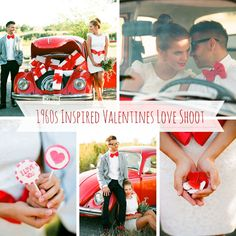 A 1960s Inspired Valentines Love Shoot (with a fabulous red VW Beetle) from Bell Studio