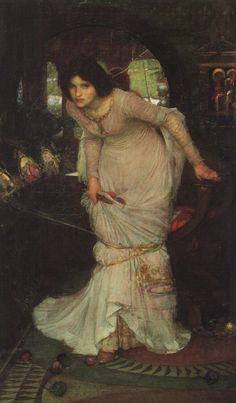 La Dame de Shalott, 1894, Huile sur toile, Leeds Art Gallery, aquise en 1895 © Musées Leeds et Galerie, (City Art Gallery) du Royaume-Uni / Le Bridgeman Art Gallery