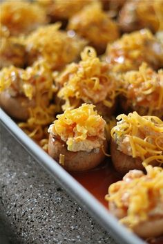 Enchilada Stuffed Mushrooms - Also low carb!