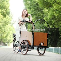 China steel 3 wheel electric cargo bike bicycle with cabin box for shopping for sale #bicycles, #shop