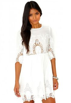 Vavery Embroidered Skater Dress - Dresses - Missguided