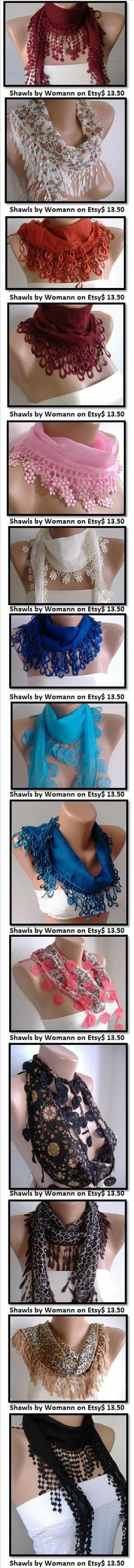 Royal Blue and Elegance Shawl / Scarf with Lace Edge by womann, $13.50
