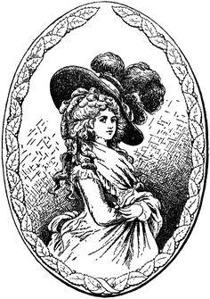Duchess of Devonshire Image from The Graphics Fairy Blog...Georgian Era, I think