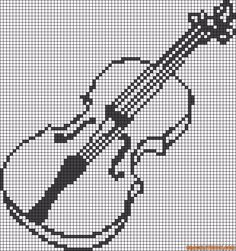 musique - music - violon -celle - point de croix - cross stitch - Blog : http://broderiemimie44.canalblog.com/