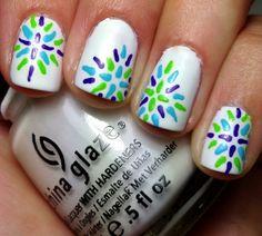 Nails by an OPI Addict: Reverse! Cute Nail Art, Cute Nails, Pretty Nails, Fabulous Nails, Gorgeous Nails, Perfect Nails, Nail Polish Designs, Nail Art Designs, Nailart