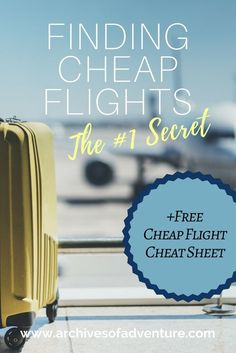 I have done my fair share of travel and found that there is just one secret to finding cheap flights online. I am going to share that secret with you. Travel Advice, Travel Tips, Travel Hacks, Air Travel, Travel Stuff, Travelling Tips, Travel Guides, Cheap Travel, Budget Travel