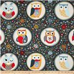 Nested Owls Owl Polka Dot Navy
