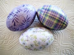 Lavender Easter Eggs floral plaid fern glittered...By:CatnipStudioToo