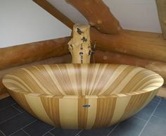 Architecture, Outstanding Wooden Bathtubs ~ Wooden Bath Tub for Your Amazing Bathroom
