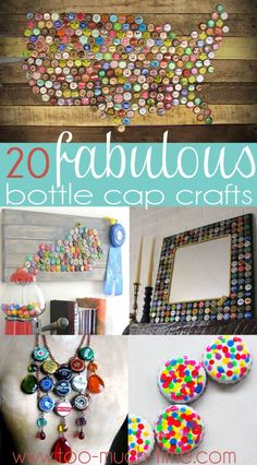20 fabulous bottle cap craft and project DIY Ideas. Some of them are cool