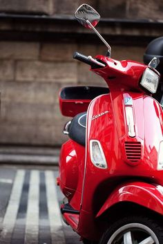 A red Vespa in Rome  8x12 or 8x10 or 8x8 by NakedEyePhoto on Etsy, $19.95