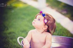 Mini milestone bathtub perfection  6 month photos   ©Krista Marx Photography #minisession