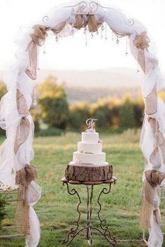 55 chic rustic burlap and lace wedding ideas lace weddings 20 beautiful wedding arch decoration ideas junglespirit Choice Image