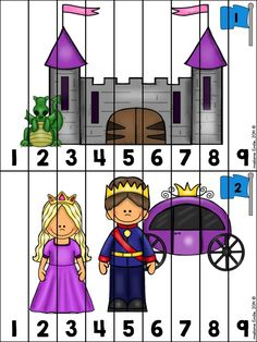 FRENCH {Knights and Castle} Math and literacy Pack/ Activités Le château Castles Topic, Chateau Moyen Age, Fairy Tales Unit, Fairy Tale Theme, Dragon Tales, Château Fort, Princess Castle, Nursery Rhymes, In Kindergarten