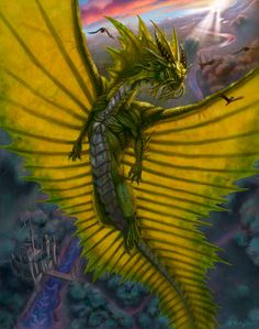 reptile dragon and castle uh, really? that's what the dragon's called? cause it's kinda stupid. Dragon Images, Dragon Pictures, Cool Dragons, Imagine Dragons, Gold Dragon, Dragon Art, Green Dragon, Magical Creatures, Fantasy Creatures