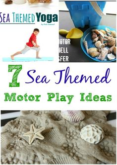 Sea Themed Motor Play Ideas- Pink Oatmeal