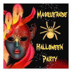 Find customizable Masquerade Party invitations & announcements of all sizes. Pick your favorite invitation design from our amazing selection.