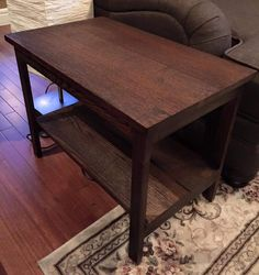 Walnut end table ~The Decor Vault~ www.facebook.com/thedecorvault