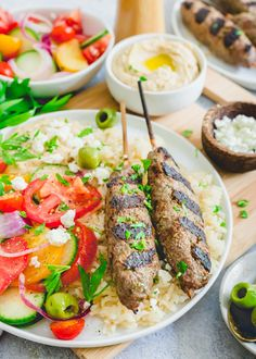 Easy beef kafta (kefta) served as kabobs is a traditional Middle Eastern style dish that's full of flavor but incredibly simple to make. Best Beef Recipes, Ground Beef Recipes, Grilling Recipes, Asian Recipes, Free Recipes, Slow Cooker Italian Beef, Slow Cooked Beef, Chicken And Beef Recipe, Side Dishes For Bbq