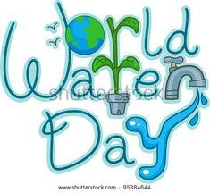 Text Illustration Celebrating World Water Day