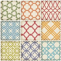 Recreate w/ Fabric or scrapbook paper adhered to canvas board to hang in room  Lot 26 Studio ADD-HERES Geo Tiles Wall Stickers, 11.25 x 22.5-Inches: Amazon.com: Home & Kitchen