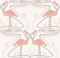 1950's Flamingo Wall Paper. OMG! THIS IS EXACTLY WHAT I NEED FOR THE PINK AND GRAY BATHROOM!!!