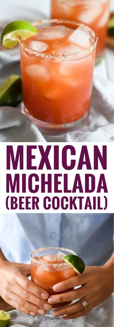 This refreshing and tangy Mexican Michelada (Beer Cocktail) made with Clamato juice and Mexican beer is the perfect drink for brunch and alongside your favorite Mexican party foods!