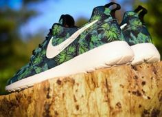 f841c0fdf45cc Nike Roshe Run Poison Green Palm Trees - Le Site de la Sneaker
