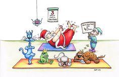 Santa, Yoga Master by Ritalai.deviantart.com on @DeviantArt