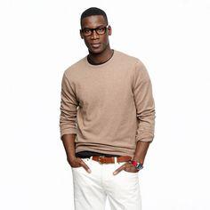 Slim cotton-cashmere crewneck sweater - cotton-cashmere - Men's sweaters - J.Crew