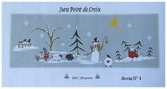 Défi Noël 2015, grilles gratuites. Jura point de croix.