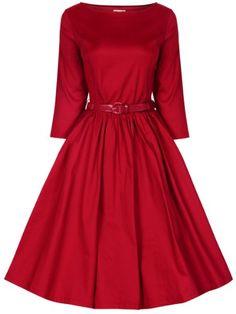 Fashion Bug Plus Size Women's 'Holly' Vintage Audrey Hepburn 3/4 Sleeve Dress  www.fashionbug.us