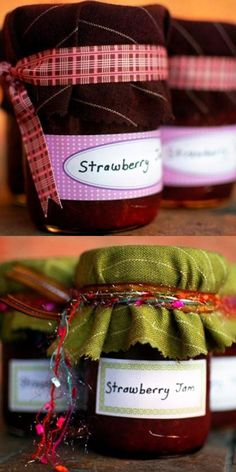 DIY Party Favor - Strawberry Jam