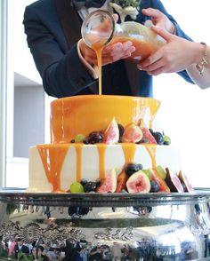 ウェディングケーキの新演出〔カラードリップケーキ〕のやり方まとめ | marry[マリー]