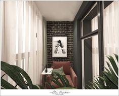 Дизайн-проект квартиры ЖК Скандинавия. Oversized Mirror, Curtains, Furniture, Home Decor, Blinds, Decoration Home, Room Decor, Home Furnishings, Draping