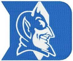 Duke Blue Devils logo machine embroidery design. Machine embroidery design. www.embroideres.com