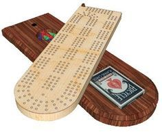 How to make your own cribbage board with homemade template.