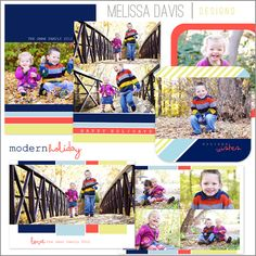 NEW 2012 Modern Holiday template set from Melissa Davis Designs