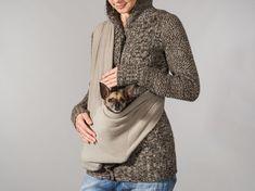 Pet sling SMALL dog carrier fleece beige