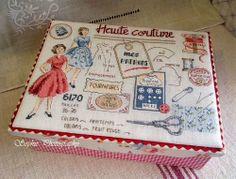 Dames françaises de couture boîte de tissu @ (Vieux) Bonjour! Ca va? La Vie est Belle? :: Nid aléatoire revue Xuite