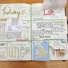 Last week's journaling.