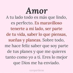 12 Imágenes bonitas con frases de amor sincero para dedicar Spanish Quotes Love, Love Poems And Quotes, Amor Quotes, Bae Quotes, Love Quotes For Him, Real Love, Love You, Frases Love, Relationship Advice Quotes
