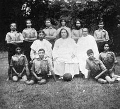 #Paramahansa #Yogananda and a soccer team.