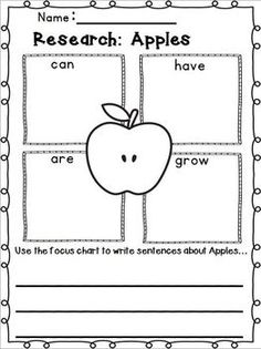"JOHNNY APPLESEED and APPLE TIME IS COMING!!!!!  Apples & Johnny Appleseed Writing ""Research"" w/ Literacy and Math Activities!  Lots of leveled skills for leveled learning!!!  Tons of writing activities and printables!  TWO FREEBIES in the Download Preview! Over 80 pages of leveled skills!"