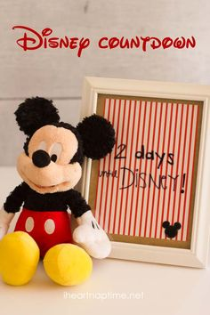 Make a Disney countdown -super easy and fun for the whole family! #disneyland